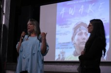 Pennie_Opal_Plant_and_Elizabeth_Milos_after_the_screening_of_Awake_Dream_from_Standing_Rock