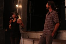 Travis_Schirmer_and_Amber_Whitson_after_the_screening_All_We_Did_Was_Live