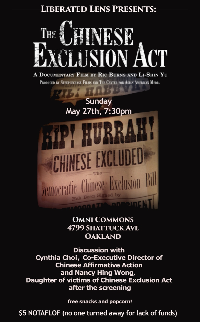 Chinese Exclusion Act flyer copy
