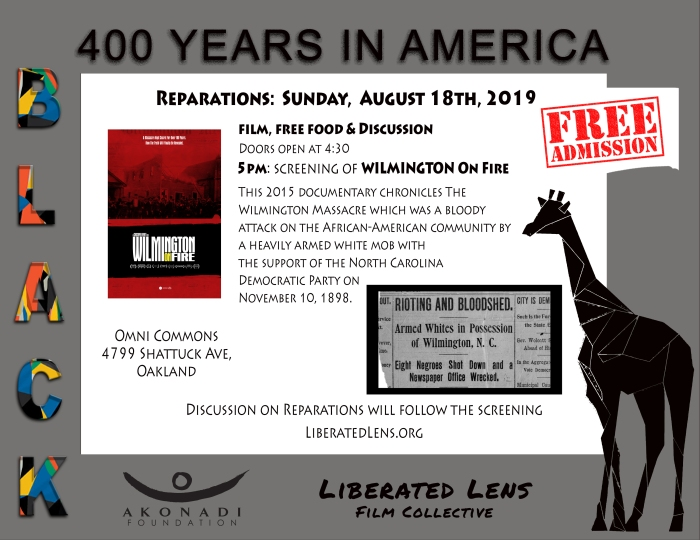 BLACK: 400 Years in America Film Series: Wilmington on Fire @ Omni Commons
